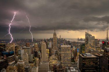 今週のニューヨークも立て続け雷雨と高温