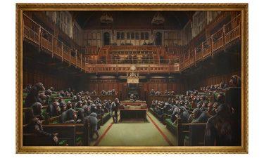 バンクシーの「Devolved Parliament」が、サザビーオークションの最高落札価格の記録を塗り替える?