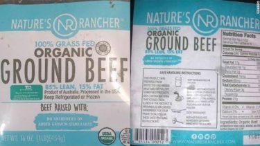 130,000ポンド以上の牛ひき肉がリコール対象に。プラスチック混入の疑い