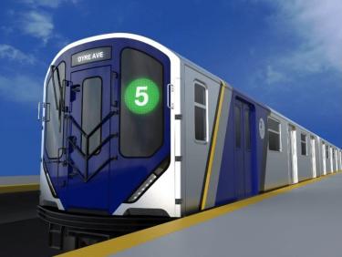 MTAの新デザイン地下鉄車両 R211の外観を公開