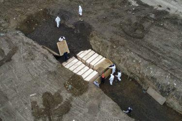 ハート・アイランド公共共同墓地への新型コロナ犠牲者の埋葬が増加