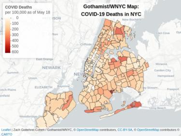 ニューヨークでのCOVID-19での死亡率が最も高いのはスターレット市