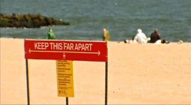 ビーチはメモリアルデーの週末にオープン、水泳は禁止