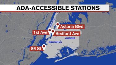 4つの地下鉄駅が8月上旬までにアメリカ障害者法準拠に