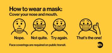 地下鉄でマスク着用ルールに従わないと罰金50ドル
