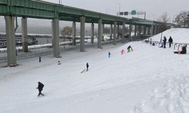 ニューヨークで数年ぶりの大雪
